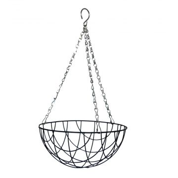 Metal Hanging basket & Coconut inlay 25cm