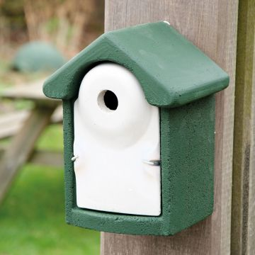 National Trust WoodStone 28mm Nest Box Green
