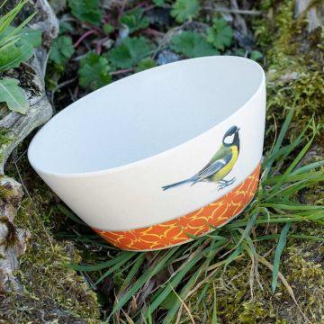 Garden Birds Bamboo Bowl by Elwin van der Kolk