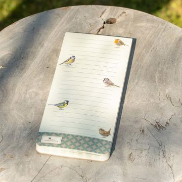 Garden Birds Magnetic To-do Pad by Elwin van der Kolk