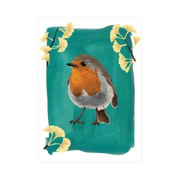 Myrte Robin Greeting Card