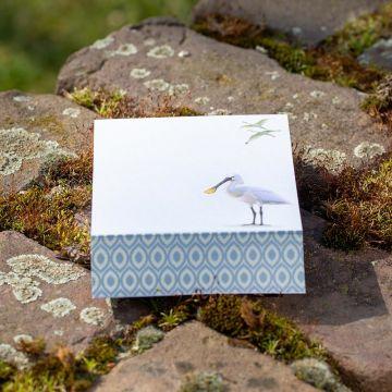 Eurasian Spoonbill Notepad by Elwin van der Kolk