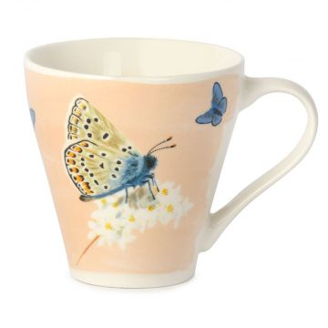 Myrte Common Blue Butterfly Mug