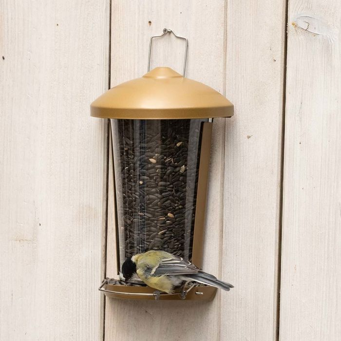 Delos Seed and Mealworm Bird Feeder - Brown