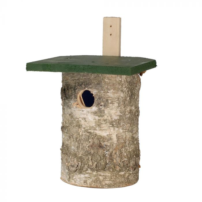National Trust Birch Log Nest Box 32mm Hole