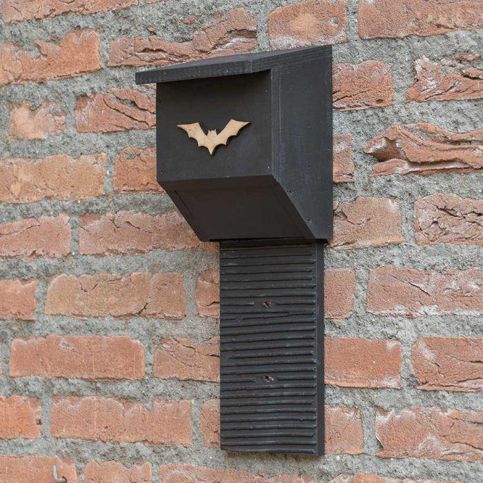 Coucy Wooden Bat Box - Black