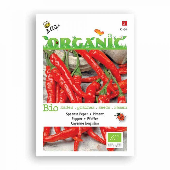 Buzzy® Organic Pepper Cayenne - Long Slim