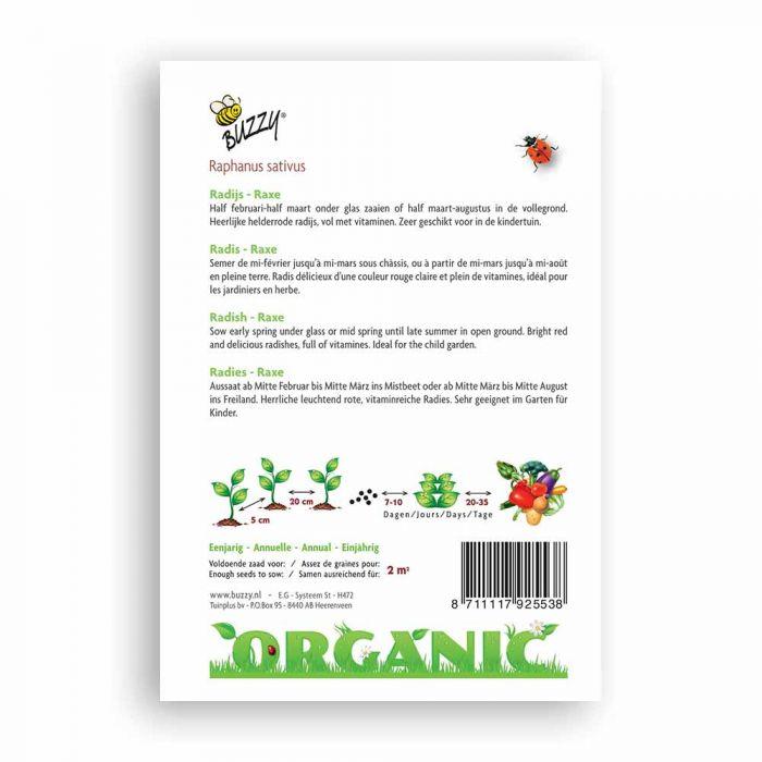Buzzy® Organic Radish - Raxe (BIO)