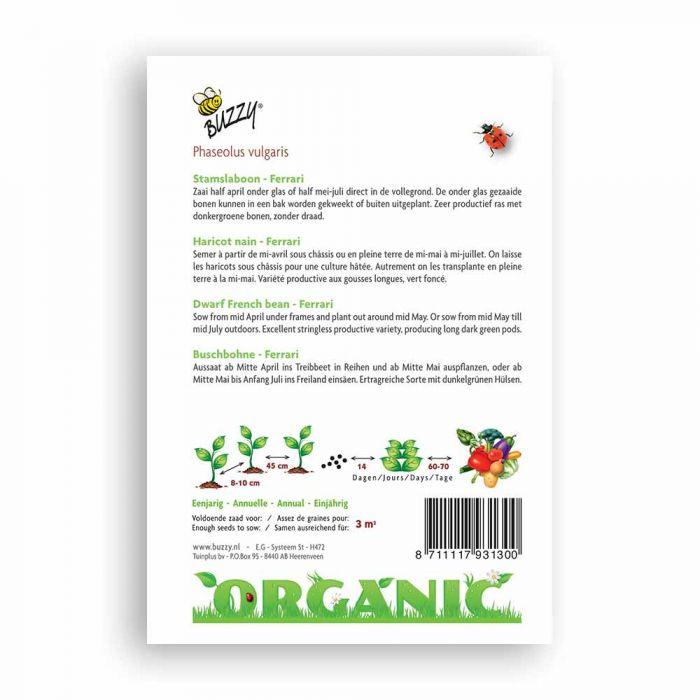 Buzzy® Organic Dwarf French Bean - Ferrari