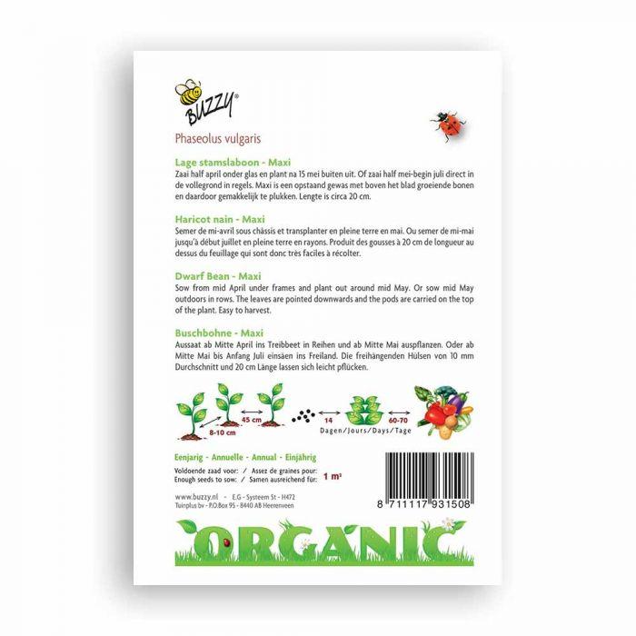 Buzzy® Organic Dwarf Beans - Maxi (BIO)