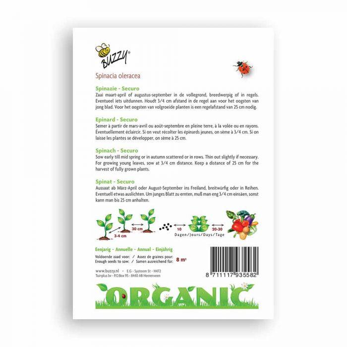 Buzzy® Organic Spinach - Securo (BIO)
