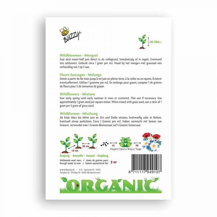 Buzzy® Organic Wildflower Mixture(BIO)