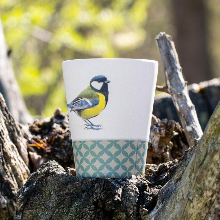 Garden Birds Bamboo Cup by Elwin van der Kolk