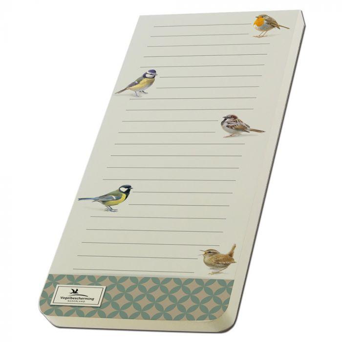 Garden Birds Magnetic To-do Pad by Elwin van der Kolk