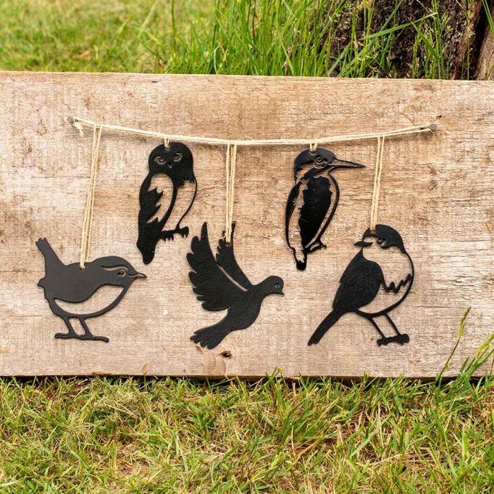 Metal Silhouettes Mini Bird Set