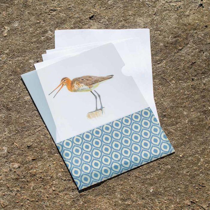 Black-tailed Godwit L-Folder by Elwin van der Kolk