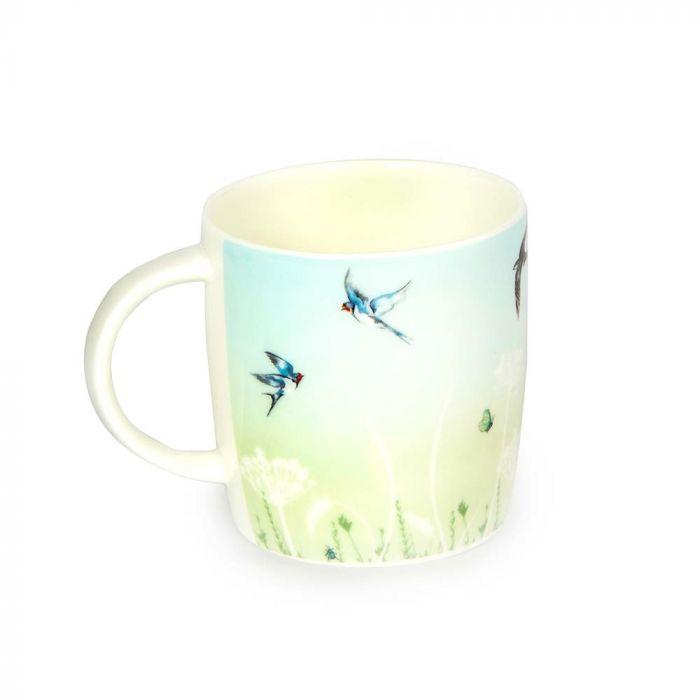 Roy Kirkham Swallow Mug (Green & Blue)