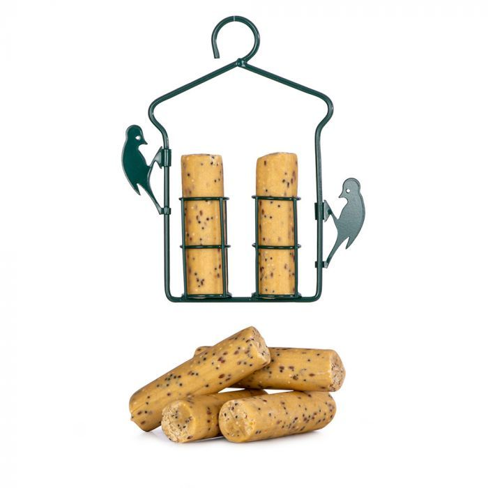 Suet Log & Hanging Feeder Pack