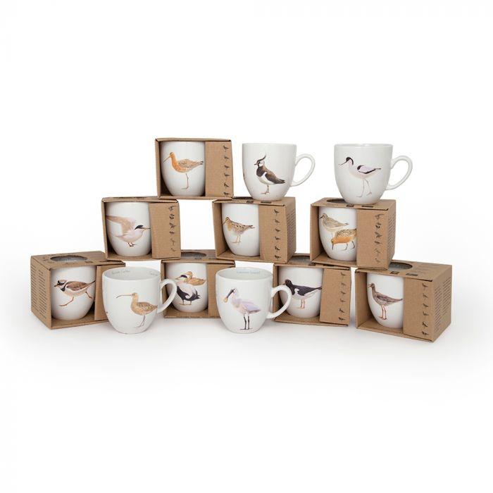 Wetland Bird 12 Mug Set