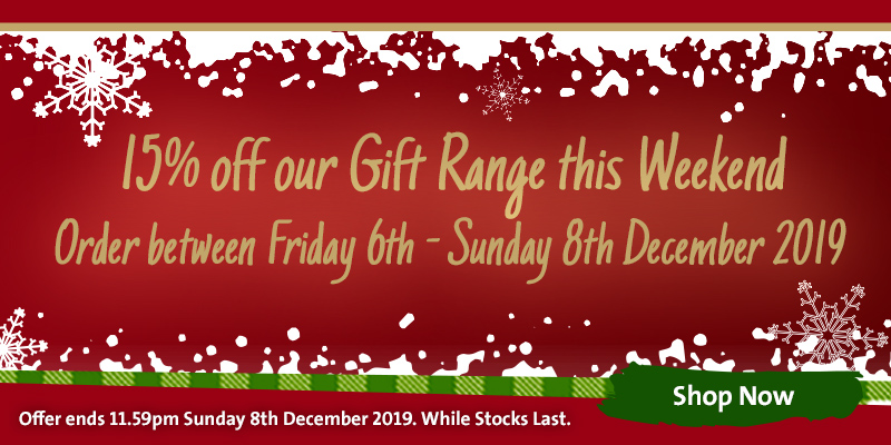 15% off Gifts this Weekend