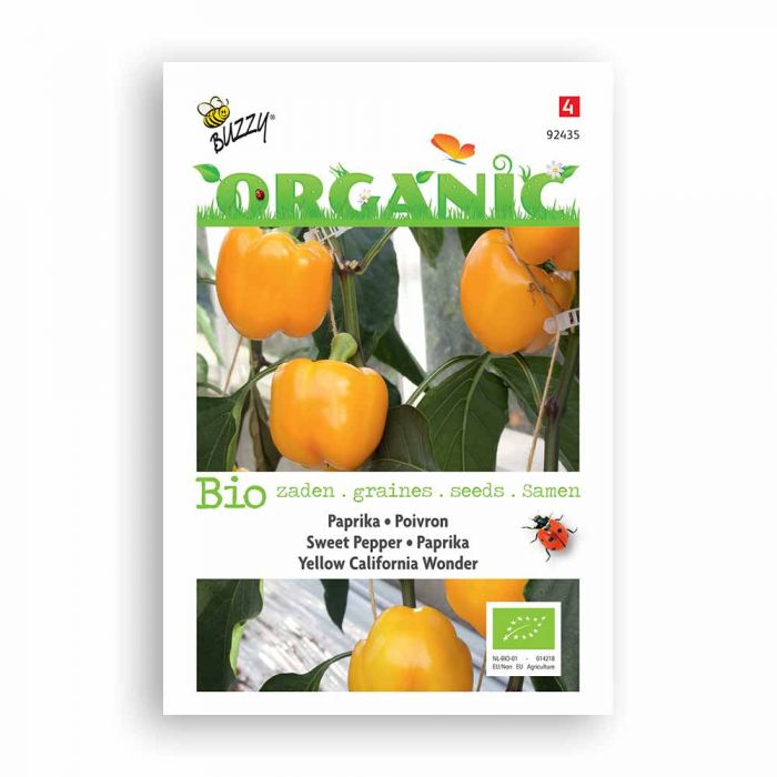 Buzzy® Organic Sweet Pepper - Yellow Cal W