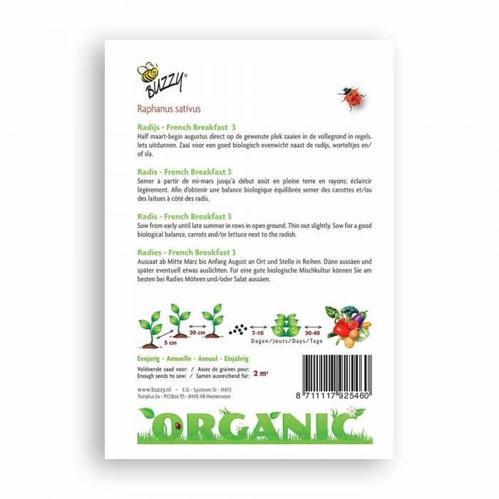 Buzzy® Organic Radish - French Breakfast 3