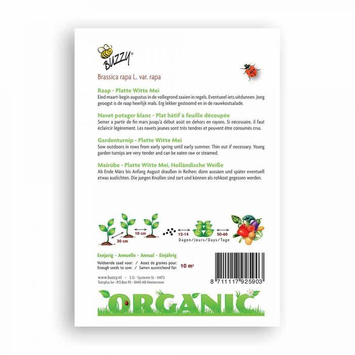 Buzzy® Organic Garden Turnip - Pl Witte Mei