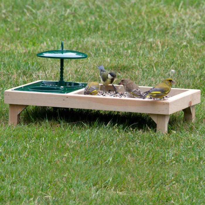 Deluxe Combi Feeding Bird Table