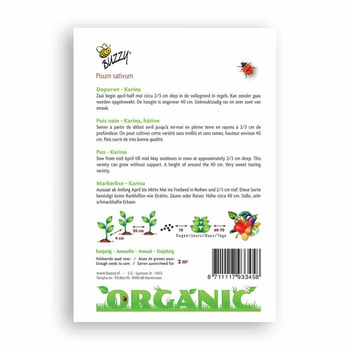 Buzzy® Organic Pea - Karina (BIO)