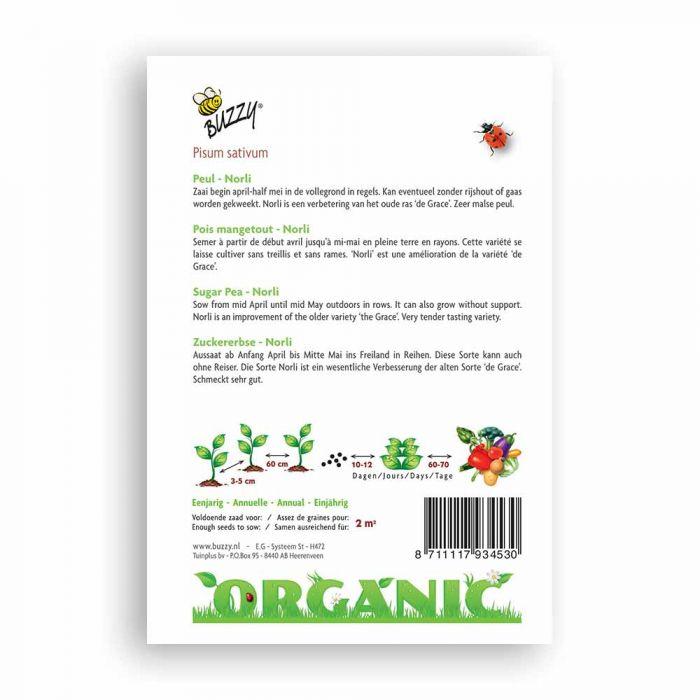 Buzzy® Organic Sugar Pea - Norli (BIO)