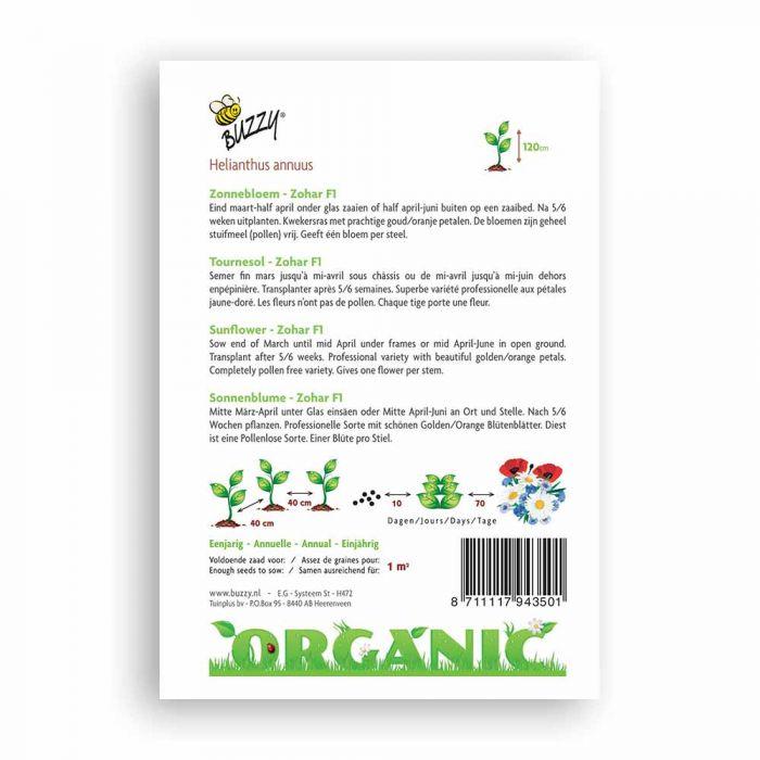 Buzzy® Organic Sunflower - Zohar F1 (BIO)