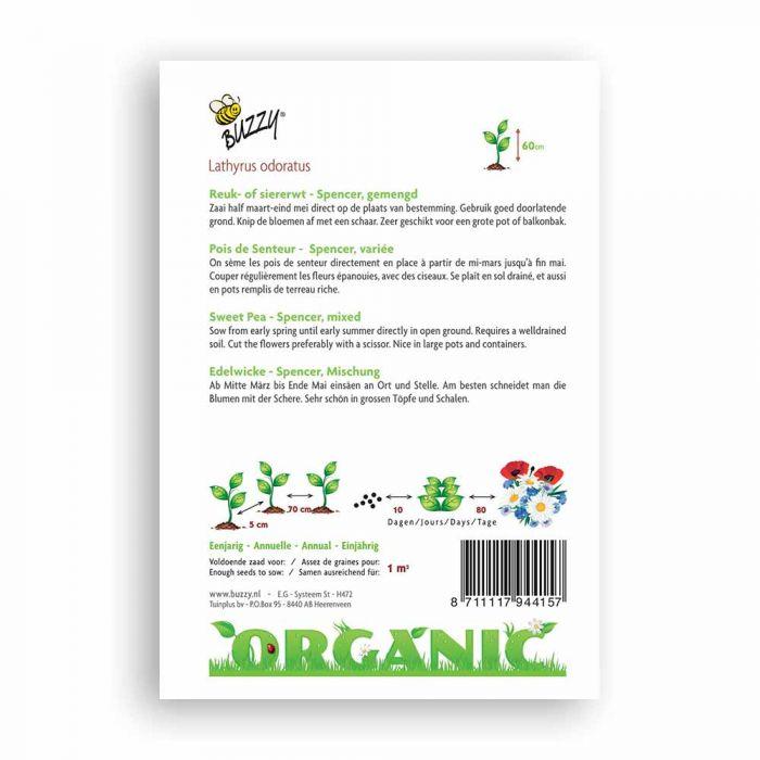 Buzzy® Organic Sweet Pea - Spencer Mix (BIO)