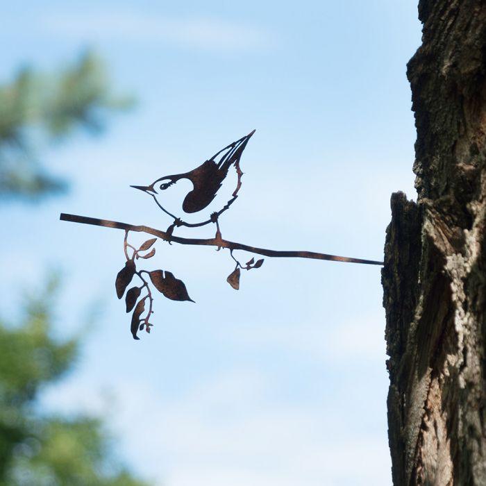 Nuthatch Metal Bird
