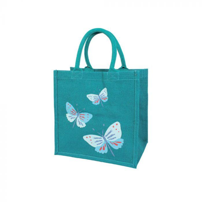 Butterfly Jute Shopping Bag