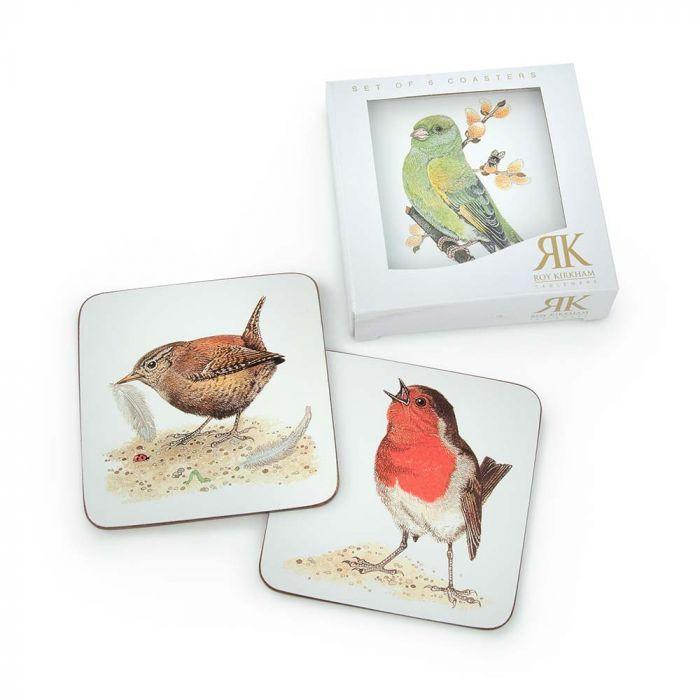 Roy Kirkham Garden Birds Coasters