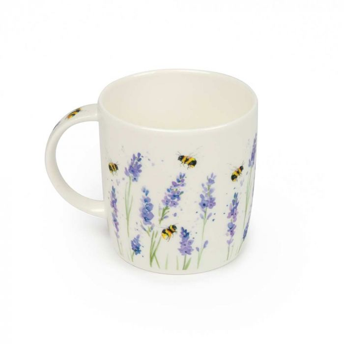 Roy Kirkham Bumblebee and Lavender Mug