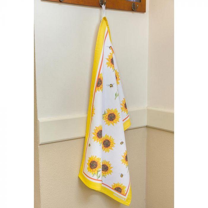 Roy Kirkham Bumblebee and Sunflower Tea Towel