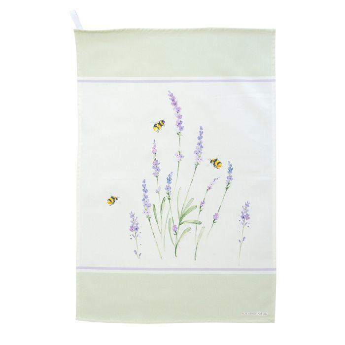 Roy Kirkham Bumblebee and Lavender Tea Towel