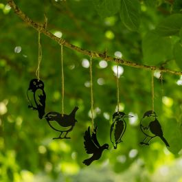 Metal Silhouettes Mini Bird Set