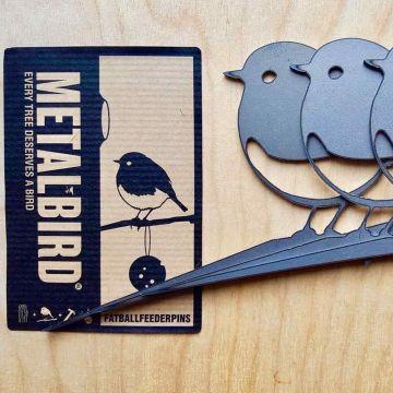 Robin Metal Bird 3 Pack