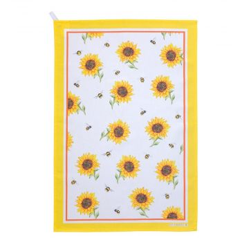 Roy Kirkham Bumblebee and Sunflower Tea Towel
