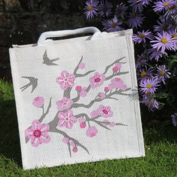Swallow Jute Shopping Bag