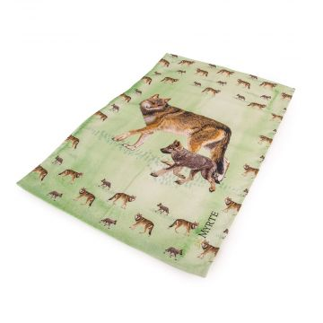 Myrte Wolf Tea Towel
