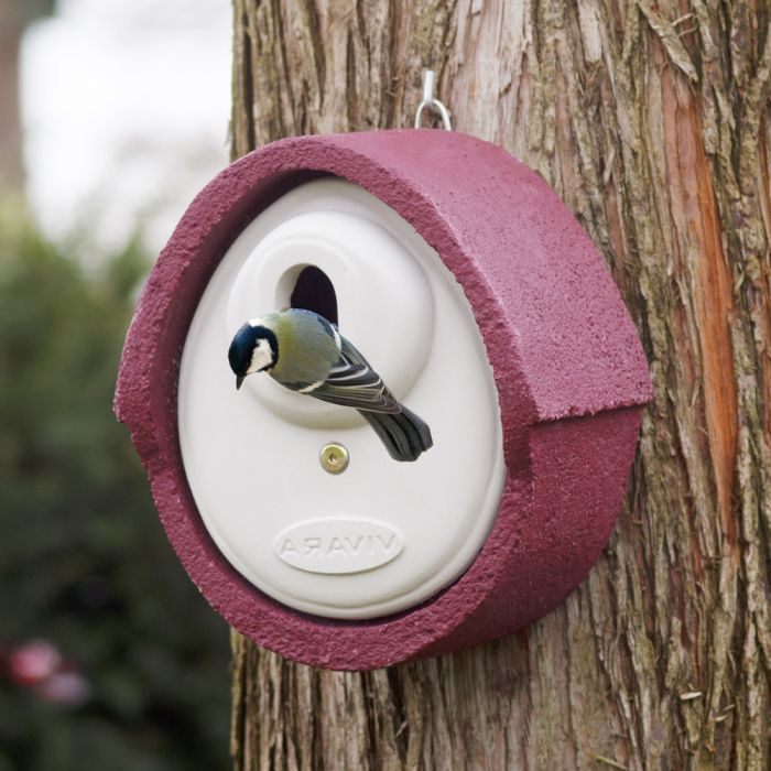 WoodStone® Alicante 32mm Oval Hole Nest Box (Red)