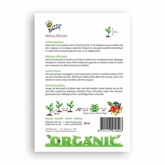 Buzzy® Organic Lemon Balm (BIO)