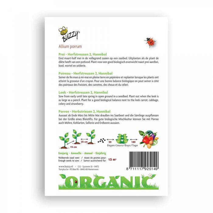Buzzy® Organic Leek - Herfstreuz. Hannibal