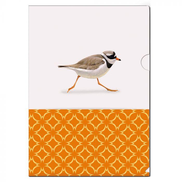 Great Ringed Plover L-Folder by Elwin van der Kolk