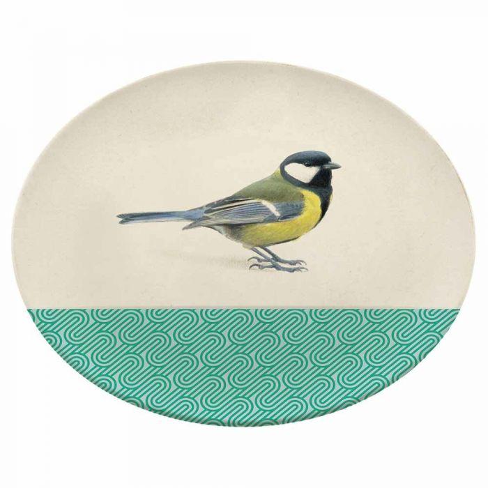 Garden Birds Bamboo Plate by Elwin van der Kolk