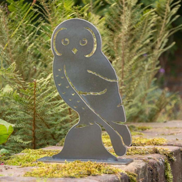 Metal Bird Tawny Owl