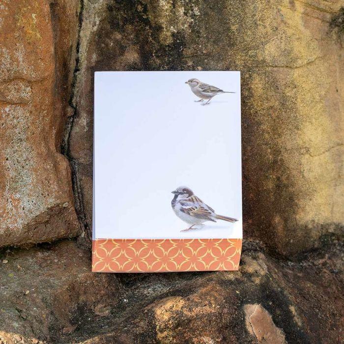 Sparrow Notepad by Elwin van der Kolk